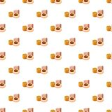Turkish delight pattern. Seamless repeat in cartoon style vector illustration royalty free illustration