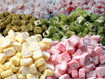 Turkish delight pile Stock Photo