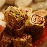 Turkish delight with pistachio nuts Stock Images