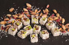 Turkish delight with pistachios Royalty Free Stock Photography