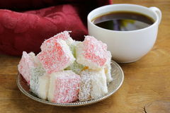 Turkish delight  (rahat lokum) Royalty Free Stock Photos