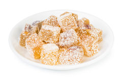 Turkish delight (rakhat-lukum) on Royalty Free Stock Photos