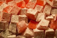 Turkish delight. Red stock image