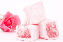 Turkish delight with rose flavour Royalty Free Stock Image