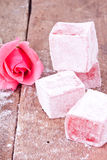 Turkish delight with rose flavour Royalty Free Stock Photo