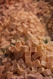 Turkish Delight. For sale at the Egyptian market in Istanbul, Turkey royalty free stock photos