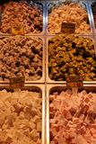Turkish Delight for sale in Turkey. Turkish Delight for sale at the Egyptian market in Istanbul, Turkey stock images
