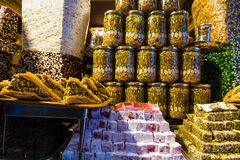 Turkish delight on sale at Kapalicarsi, Istanbul, Turkey Royalty Free Stock Image