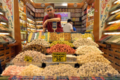 Turkish delight seller. Royalty Free Stock Image