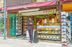 Turkish delight store in Side Stock Photography