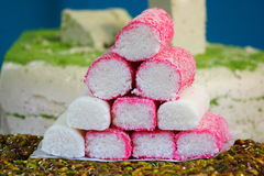 Turkish delight, sweets, candy shop grand bazaar Istanbul. Stock Image
