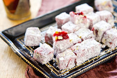 Turkish delight by Tea Royalty Free Stock Image