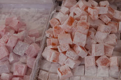 Turkish Delight in the Turkish market Stock Images