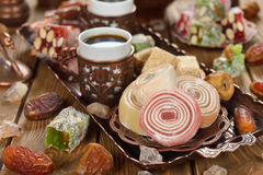 Turkish Delight and various oriental sweets Stock Photo