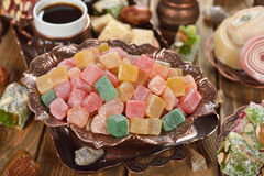 Turkish Delight and various oriental sweets Stock Photography