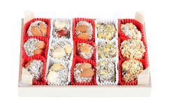 Turkish delight on white Stock Image