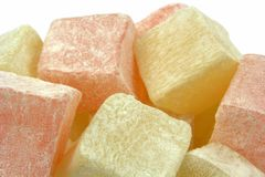 Turkish Delight on a white background. Stock Images
