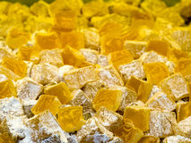 Turkish delight in yellow Stock Image