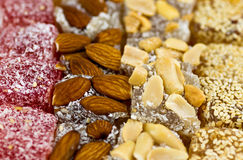 Turkish delights closeup view Stock Images