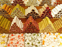 Turkish delights in Grand Bazaar - Istanbul Turkey Royalty Free Stock Photos