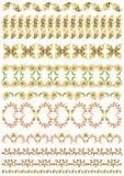 Turkish design border set Royalty Free Stock Images