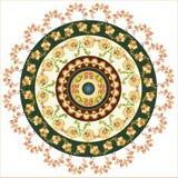 Turkish design circle. Colorful circular pattern of elegant oriental studies Royalty Free Stock Images