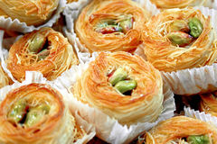 Turkish dessert. Authentic Turkish sweet made from pulp and nuts Stock Photography