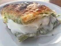 Turkish dessert with filo dough. Delicious turkish dessert with filo dough Royalty Free Stock Images