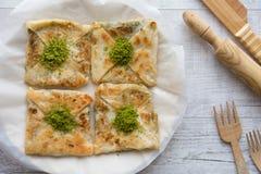Free Turkish Dessert Katmer With Rolling Pin. Stock Photos - 77929633