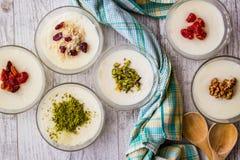 Turkish Dessert Muhallebi / Homemade Pudding. Royalty Free Stock Photo