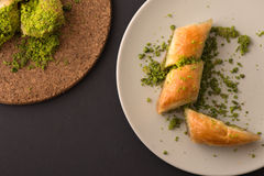 Turkish dessert with special background Stock Photography