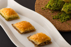 Turkish dessert with special background Stock Images