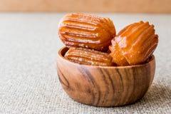 Turkish Dessert Tulumba tatlisi Stock Photography