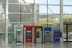 Turkish different bank ATM in ankara Metro subway royalty free stock image