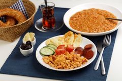 Turkish dinner Royalty Free Stock Photos