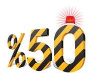 % 50 Turkish Discount Scale Percentage. Stock Photo