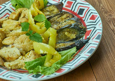 Turkish dish of chicken fillet with eggplant Royalty Free Stock Image