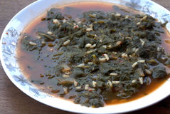 Turkish dishes: spinach meal Stock Photography