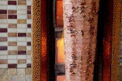 Turkish Doner Kebab варя в огне Стоковая Фотография RF