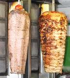 Turkish doner kebab. Beef and chicken. Stock Image