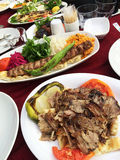 Turkish Doner Kebab. In a restaurant in Istanbul,Turkey stock image