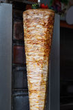 Turkish doner kebab in a restaurant on the street Stock Photos