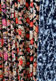 Turkish Dress Fabrics. In the store in the city of Izmir in Turkey Stock Images