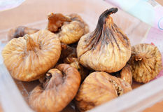 Turkish dried figs pictures with white background.  Royalty Free Stock Image