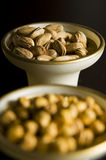 Turkish dried nuts in the bowl with chickpeas Royalty Free Stock Image