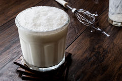 Turkish Drink Ayran or Kefir / Buttermilk made with yogurt. Buttermilk refers to a number of dairy drinks Royalty Free Stock Images