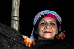 Turkish elder woman Stock Image