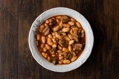 Turkish Etli Kuru Fasulye /  Baked Beans  with meat. Royalty Free Stock Photography