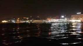 Istanbul. the Galata Bridge. night. October 17, 2017. Turkish, evening, galata, landmark urban water tourism restaurant asia europe stock video