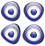 Turkish evil eye bead. Illustration of Turkish lucky charm evil eye bead vector illustration